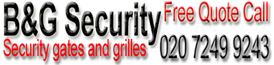London security gates, grilles, railings, doors, windows